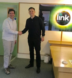 Allan Rockach (left) from Link Solutions & Steffan Dancy (right) from Rydal Communications